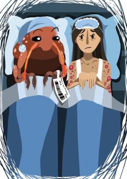 Bedbugs Editorial Illustration