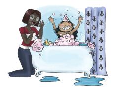 Sandy Sharkfin Children's Book Illustration