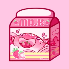 Strawberry Milk Carton