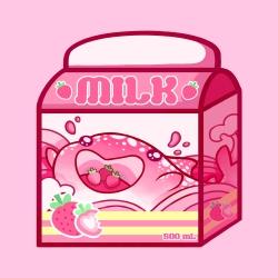 Strawberry Milk Carton