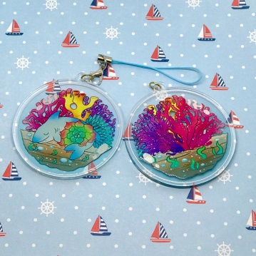 Double sided Terrarium Charm