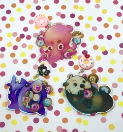 Double sided Sea Creatures and Donuts