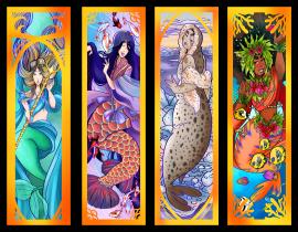 mermaid bookmarks